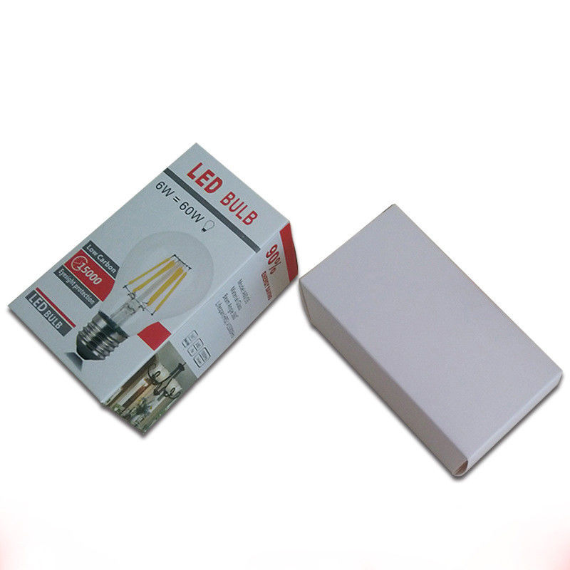 CMYK UV Effect Paper Packaging Box , White Cardboard Led Bulb Packaging Box