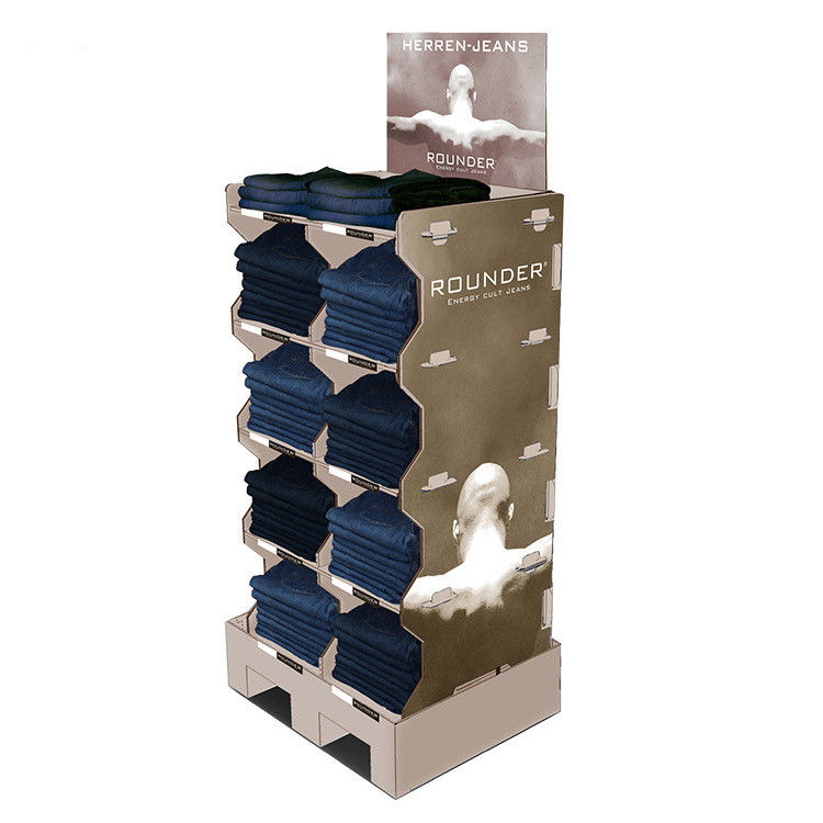 Durable Apparel Cardboard Product Display Stands Glossy / Matt Lamination