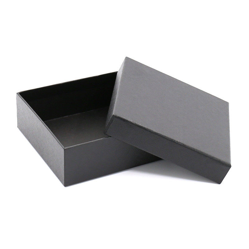 Black Cardboard Clothing Boxes Garment Packing Boxes ISO14001 Certificated