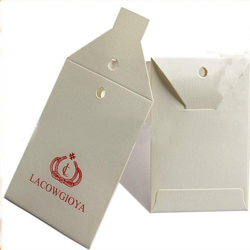 PMS Custom Card Printing White Cardboard Gift Card Kraft Hang Tags 1mm Thickness